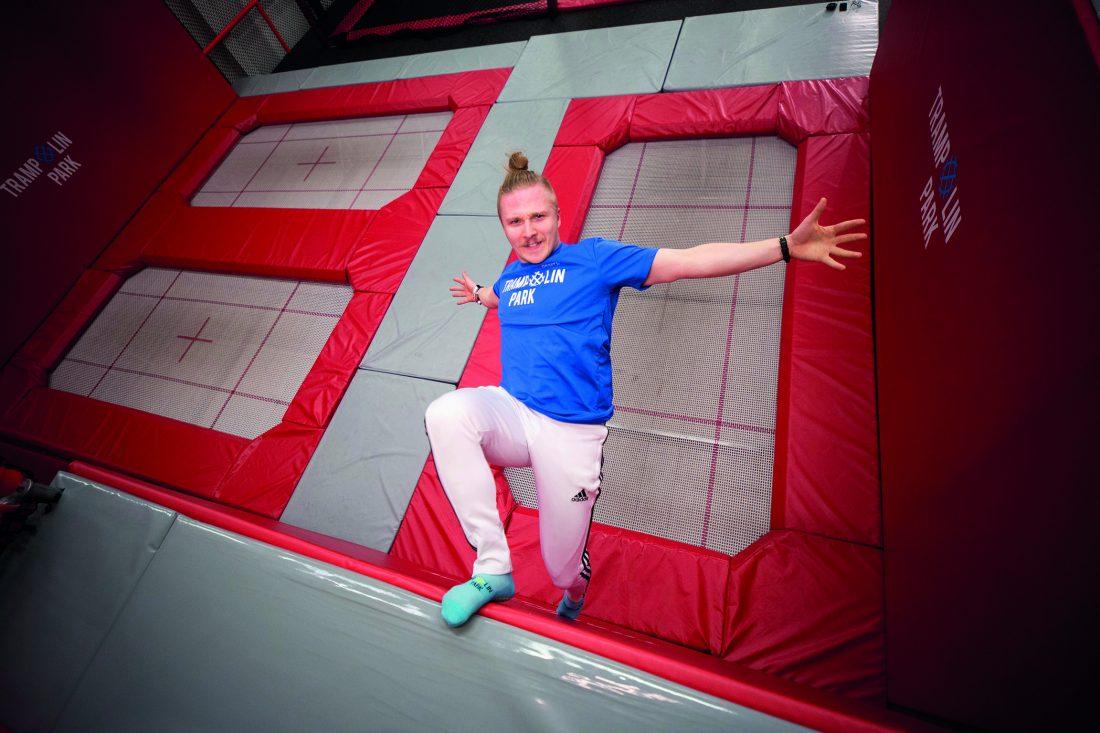 Trampolin Park wall trampoline